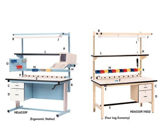 ERGONOMIC BASE WORK STATIONS - OPTIONAL ACCESSORIES