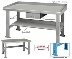 MAPLE TOP INDUSTRIAL WORK BENCHES