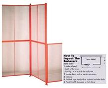 HIGH SECURITY WIRE PARTITION SYSTEM